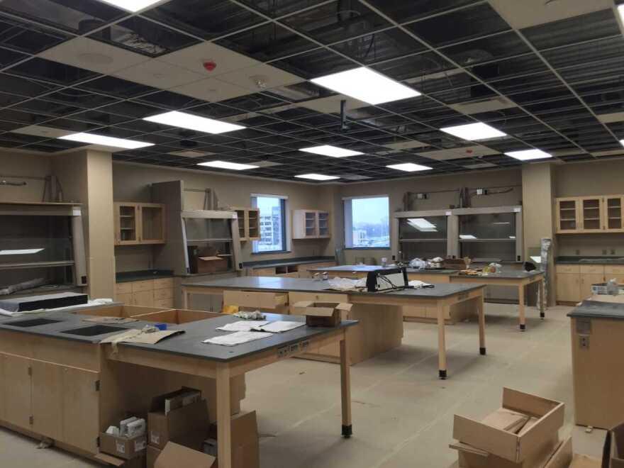 photo of lab under construction