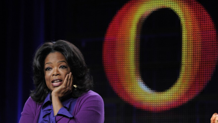 Oprah Winfrey, chairman of the Oprah Winfrey Network, speaks to reporters during the Discovery Communications Television Critics Association winter press tour in Pasadena, Calif., Thursday, Jan. 6, 2011.