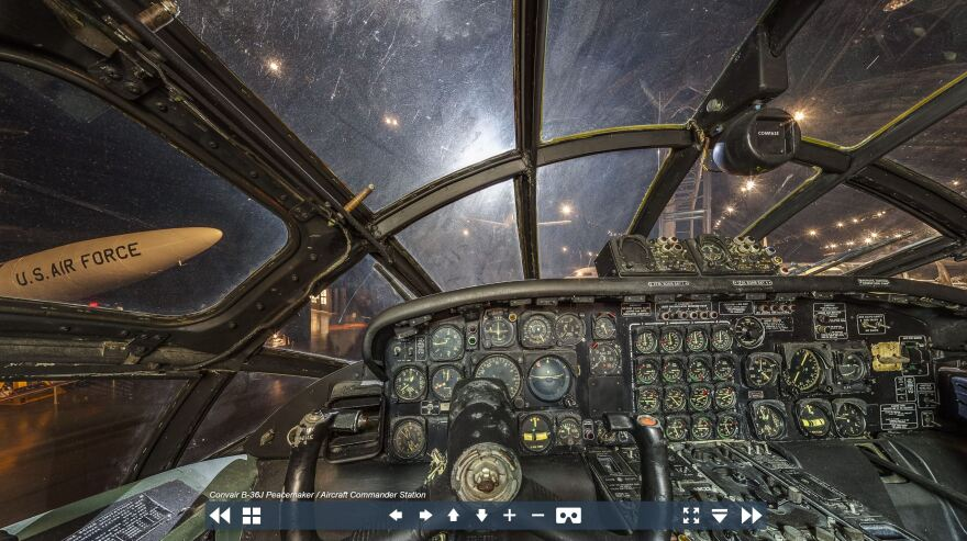 The United States Air Forces Museum has a robust virtual tour that takes website visitors through enormous hangers filled with planes and puts them behind the controls of fighter jets.
