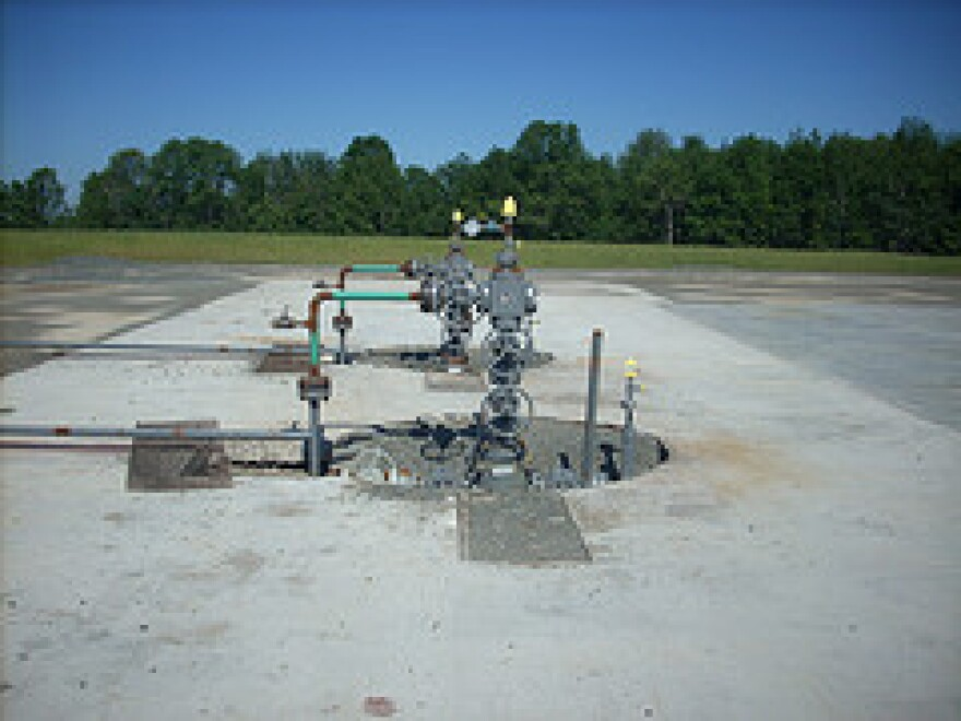 A Pennsylvania gas well.  fracking drilling