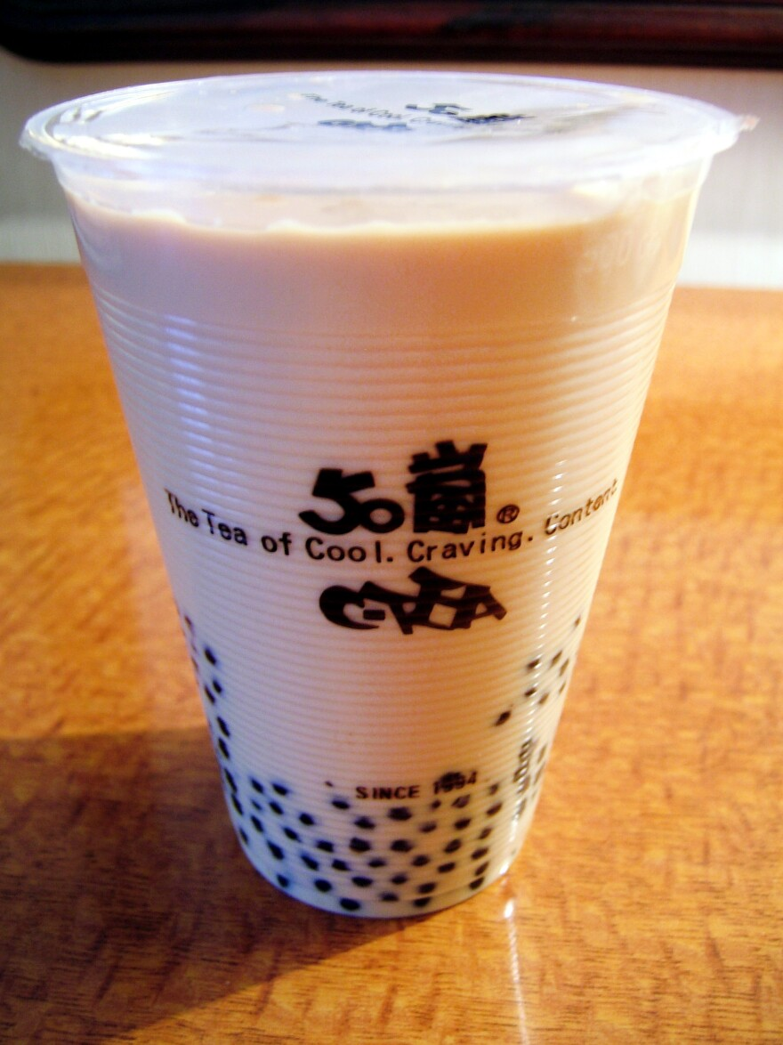 Bubble tea is a popular sweet tea drink that originated in Taiwan.