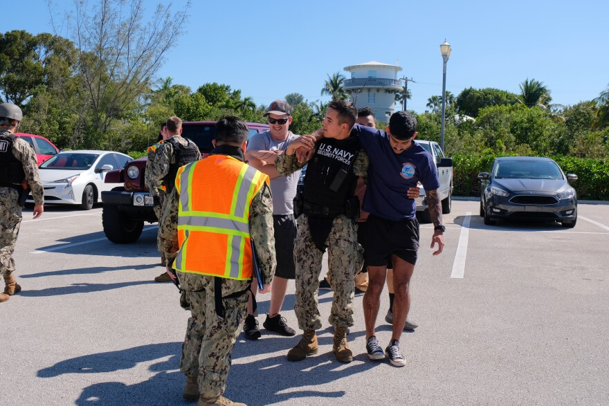 Naval Air Station Key West held an active shooter drill at its VA clinic Monday.