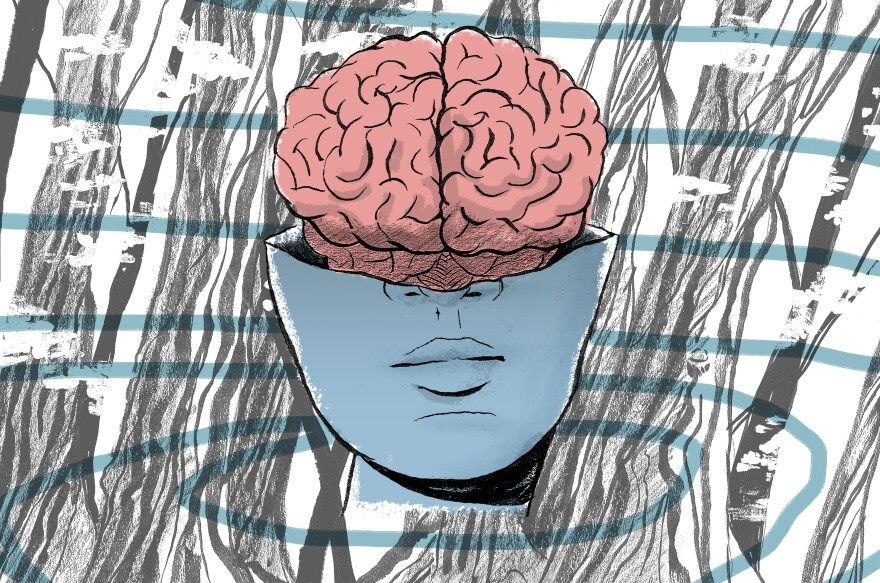 An illustration of what it feels like to experience schizophrenia.