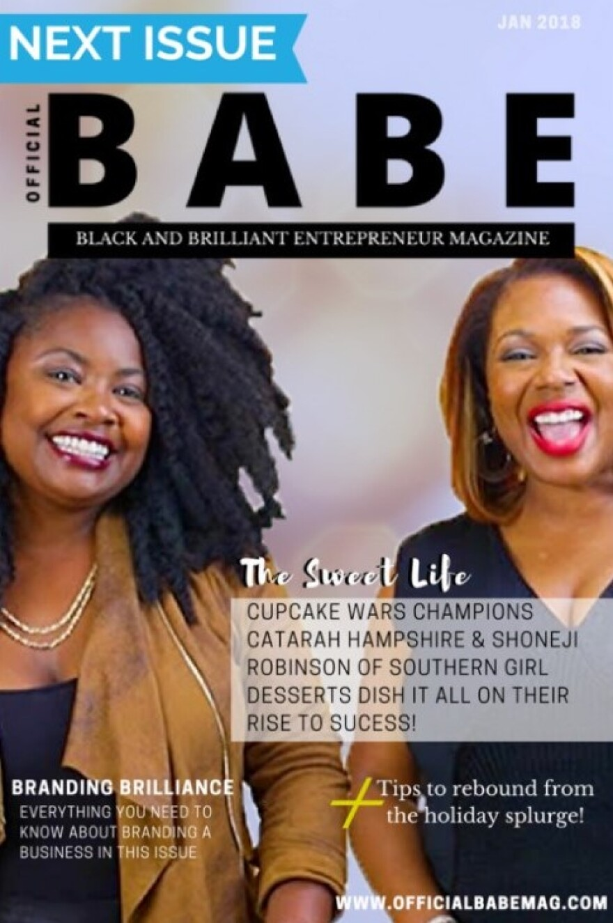 "cover for the first edition of ""Official B.A.B.E. Magazine."""