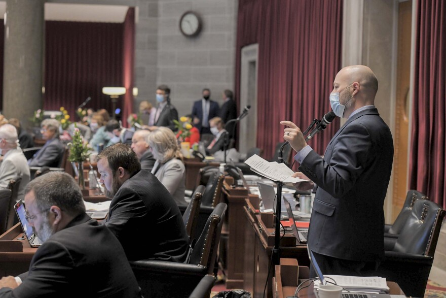 Cody Smith discusses state budget on Friday, May 8, 2020