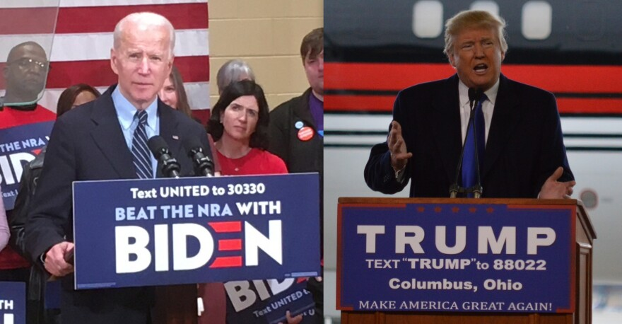 Joe Biden campaigned in Columbus before Ohio's pandemic shutdowns. Donald Trump frequently campaigned in Ohio in 2016, including at John Glenn Interntional Airport.