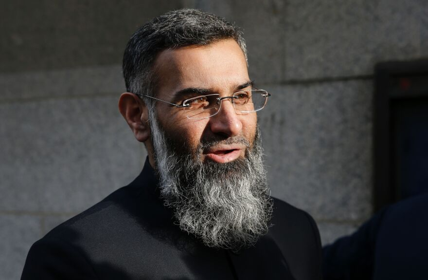 Muslim cleric Anjem Choudary arrives at the Old Bailey in London for the start of his trial on Jan. 11. Choudary and Mohammed Rahman were convicted of inviting support for Islamic State.