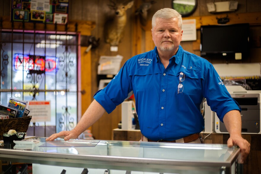 Jack Pickett standing at the counter