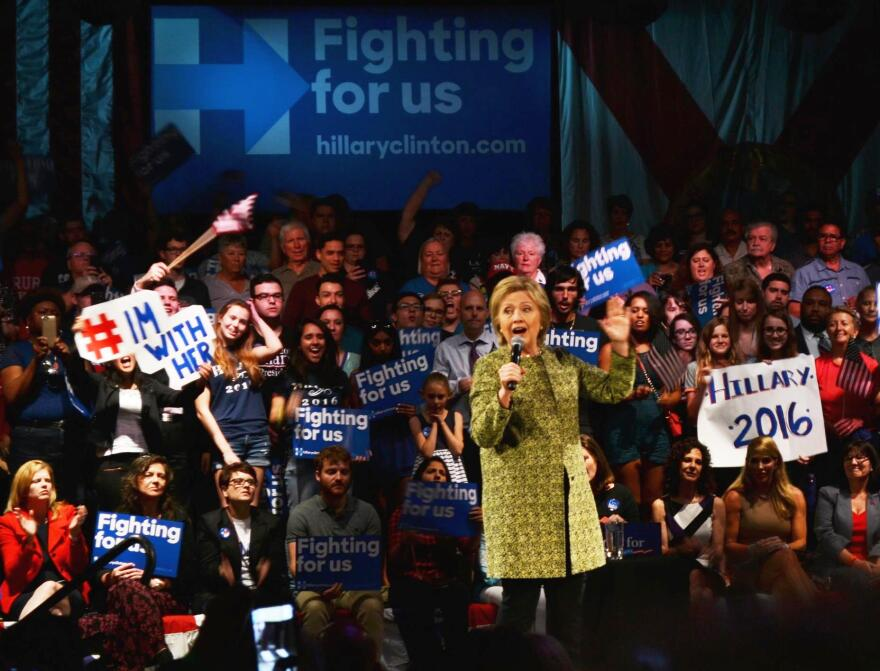 Hillary Clinton in Tampa Thursday