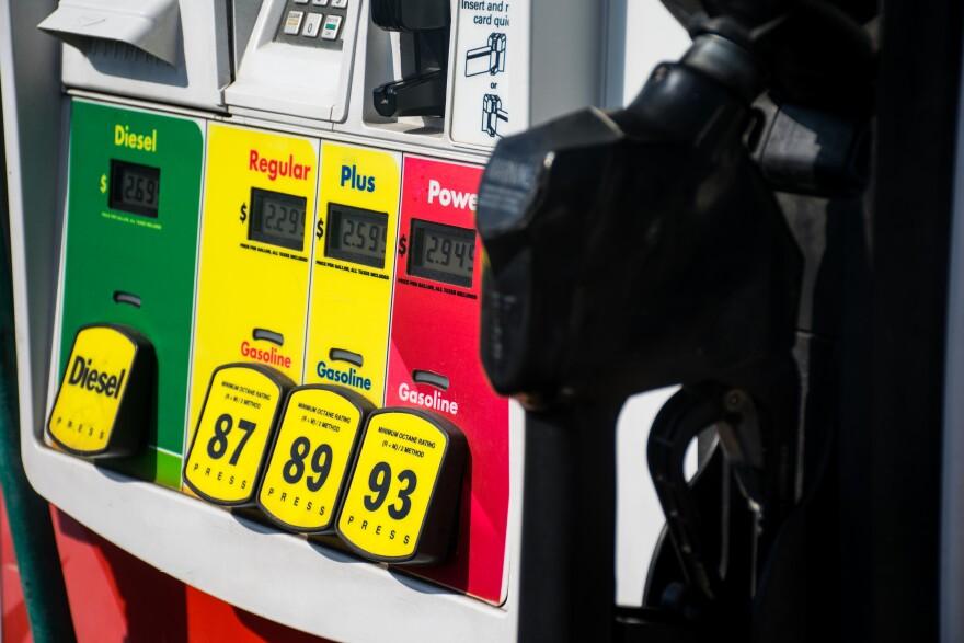 a photo of gas pumps