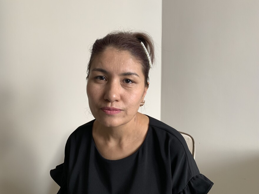 "Gulserik Kazykhan is struggling to get more information about her detained brother-in-law from visiting relatives. ""If you don't return, the guarantors will suffer."""