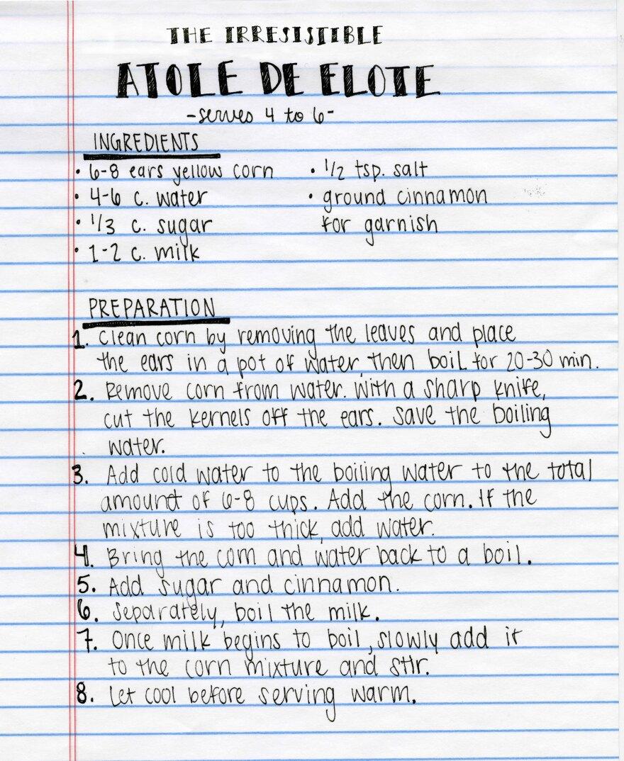 Atole De Elote Recipe