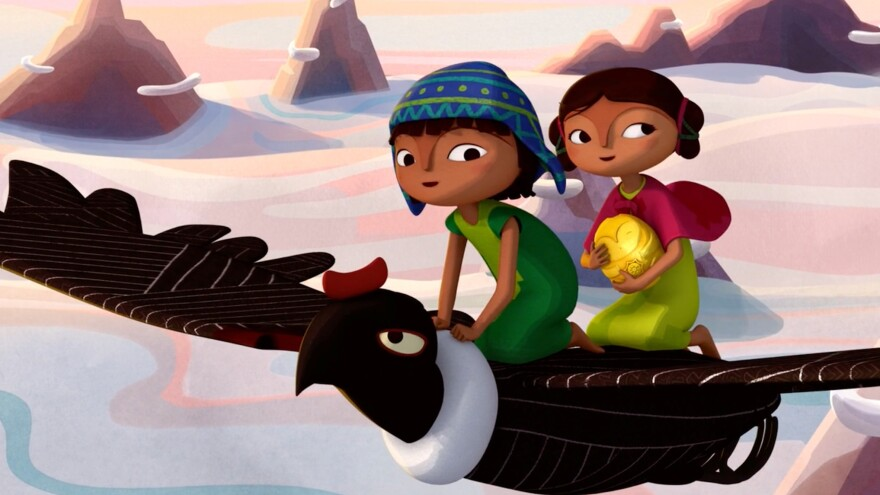 In the Netflix film <em>Pachamama</em>, set in the Andes during the time of Spanish conquest, 10-year-old Tepulpai and his friend Naira go on a journey to retrieve their village's treasured statue.
