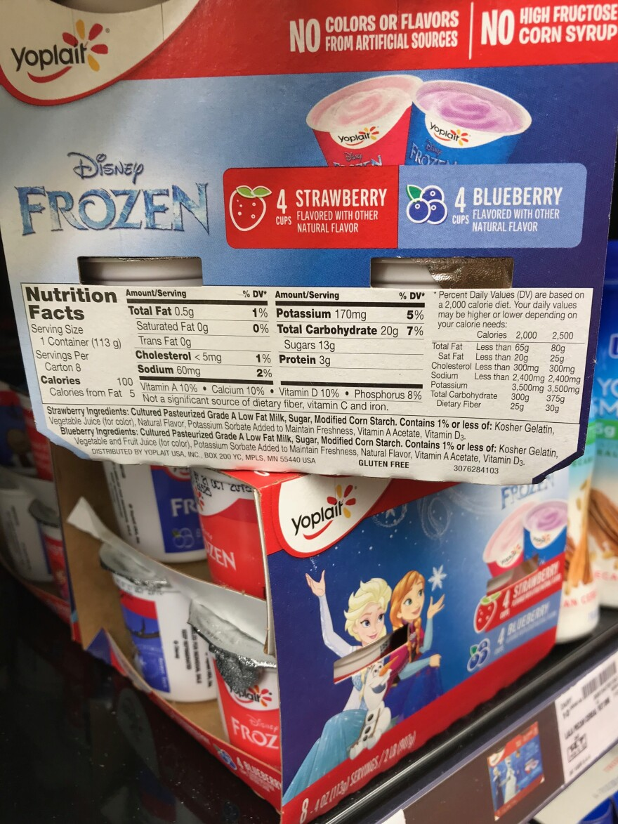 Yogurts found in a U.S. supermarket have similar amounts of sugar to those found in U.K. stores. And experts say those sugars can add up quickly.