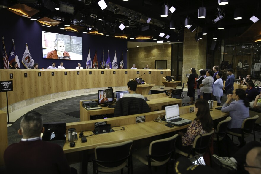 Austin City Council held a public hearing on the land development code revision at City Hall on Dec. 7.