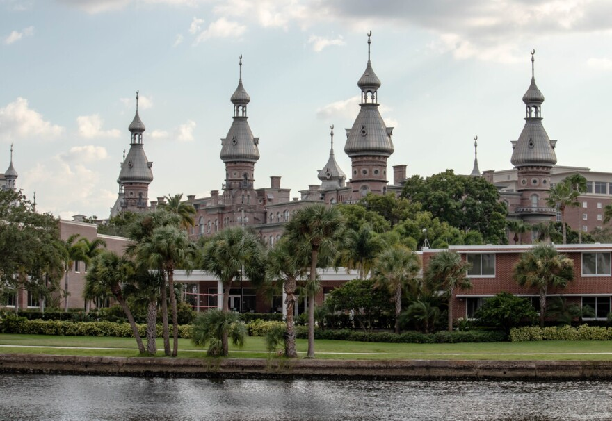 University of Tampa minarets in front of Hillsborough River