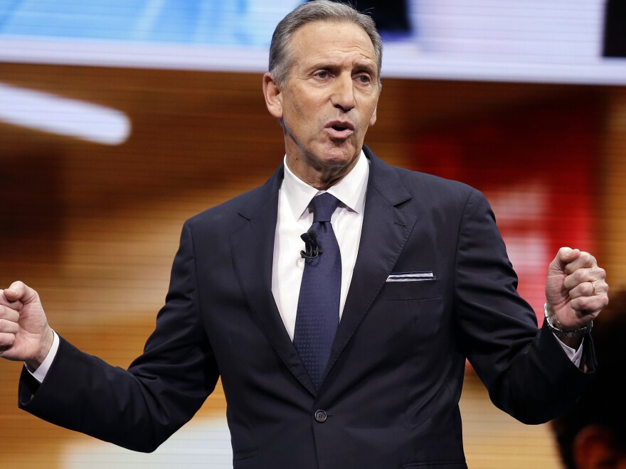 Howard Schultz, pictured in 2017, is stepping down as executive chairman of Starbucks as of June 26.
