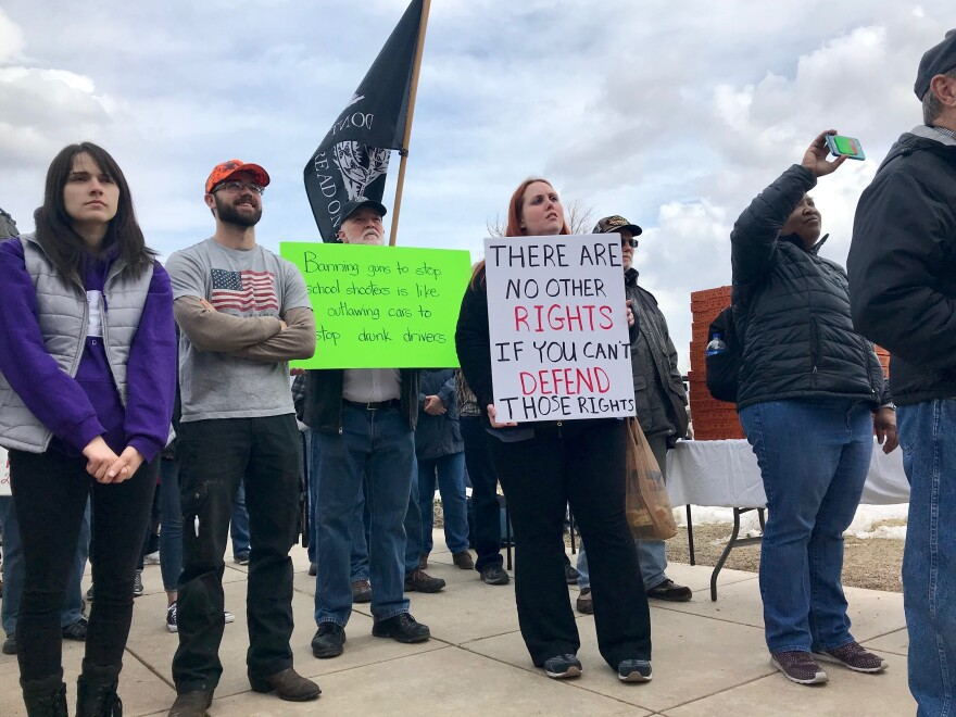 """The """"March for Our Guns"""" rally convened near the steps of the state Capitol in Helena in response to the """"March for Our Lives"""" rallies across the country. Pro-gun demonstrations were held in Utah, Idaho and other states as well."""