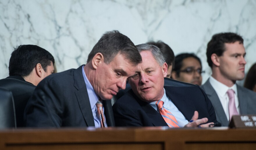 Senate Intelligence Committee Chairman Richard Burr, R-N.C. (right), and Ranking Member Mark Warner, D-Va., have released their committee's recommendations to combat cyberattacks.