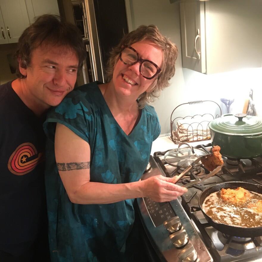 Paul Burch and his wife Meg Giuffrida.