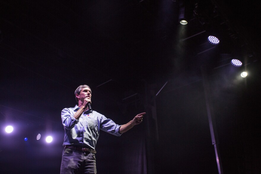 Beto O'Rourke addresses supporters in El Paso on election night in November.