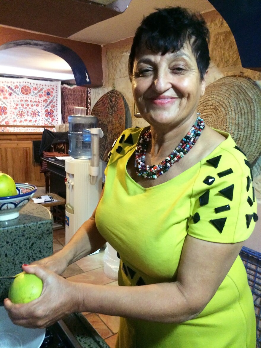 """The hummus is our tradition,"" says Palestinian Nuha Musleh, seen here in her kitchen."