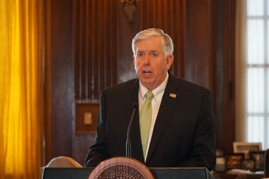 Parson at briefing on Wednesday, May 5, 2020