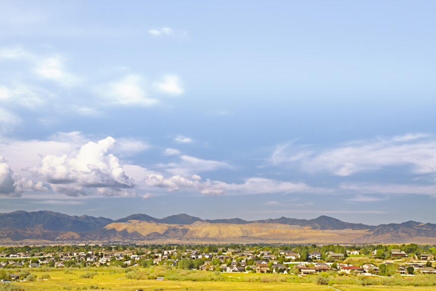 Photo of the Utah skyline in the area where the Olympia Hills development is proposed
