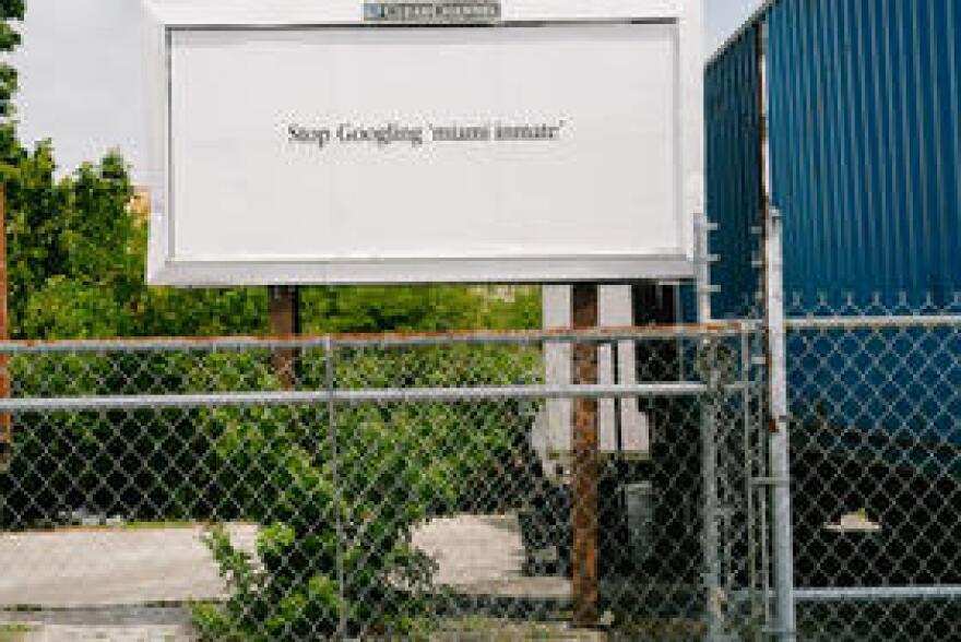 Billboard for View-Through in North Miami.