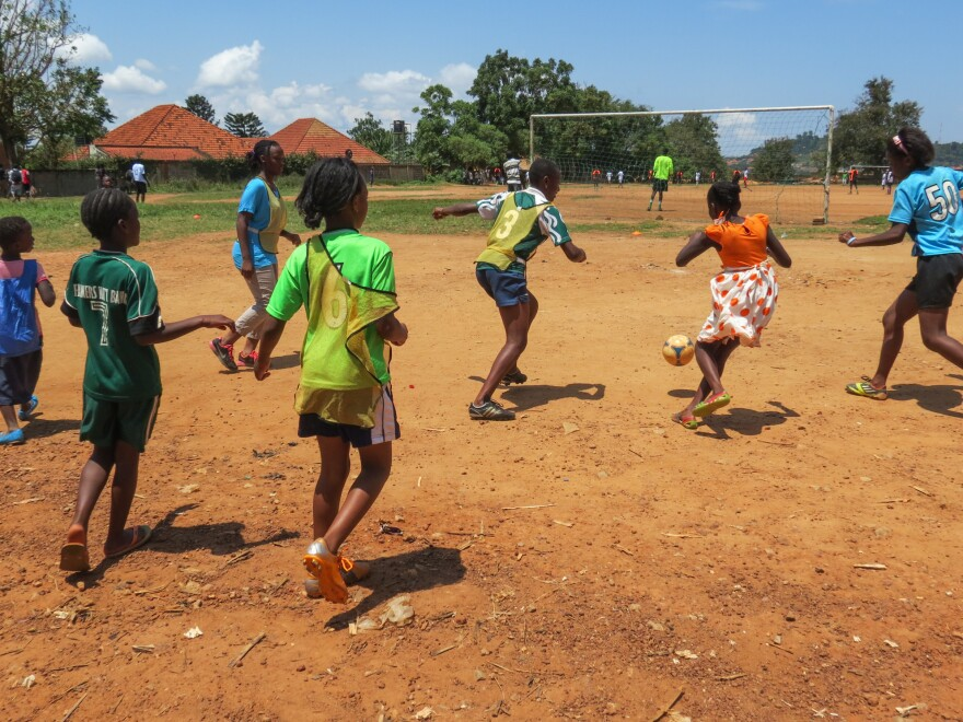 Soccer is only part of the program at Soccer Without Borders in Uganda. Its youth center offers English lessons and other classes.