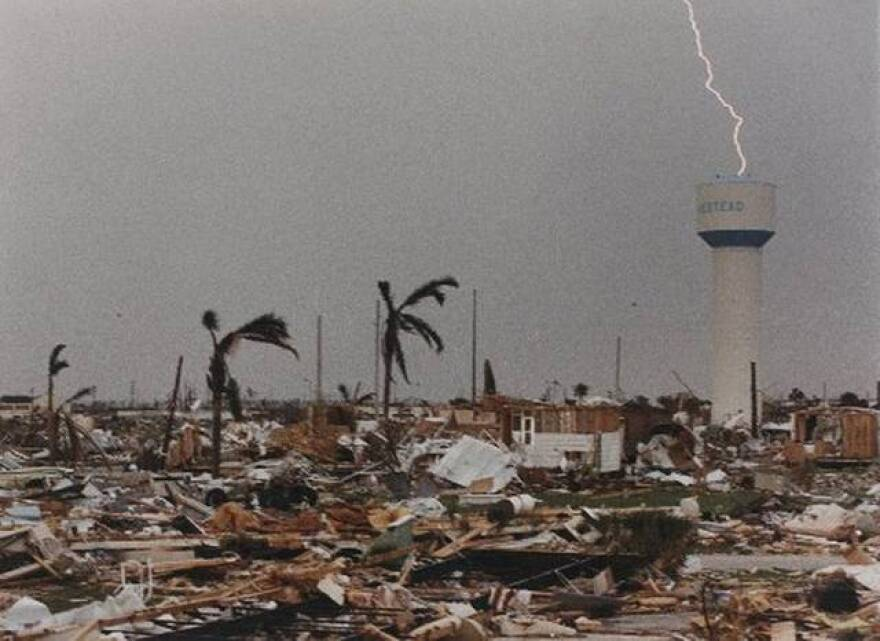 The City of Homestead was devastated by Hurricane Andrew, but the storm reverberated through insurance markets around the world.