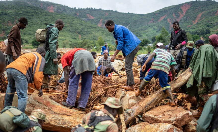 Searching for survivors — and victims — in Zimbabwe, which was also hit by the cyclone.