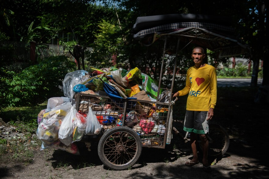 Alex Fruelda, 59, has been a garbage collector in San Fernando city, north of Manila, for nearly 10 years. Officials say the city recycles or composts 85 percent of its waste.