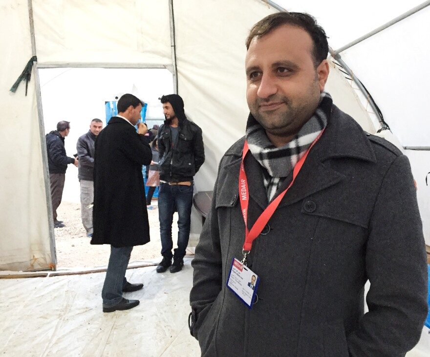 Dr. Haji Aziz Essa, a Yazidi doctor, is the only physician at a tent camp for some 24,000 Yazidis near the northern Iraqi city of Dohuk. The Yazidis fled this summer as the Islamic State attacked their ancestral home in Sinjar.