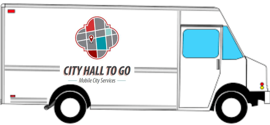 """""""City Hall To Go"""" is one of the R&D League's initiatives. The goal is to identify where department outreach and intake efforts overlap and to ailgn those efforts in a mobile truck that can deliver to low-income, hard-to-reach residents."""