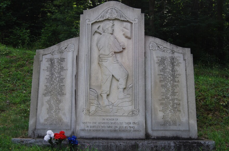 United Mine Workers monument at the site of the Bartley mine disaster