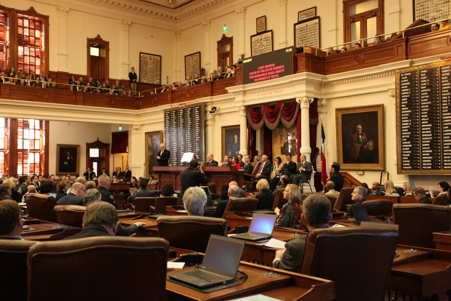 Gov. Greg Abbott gives his State of the State on Tuesday, Jan. 31.