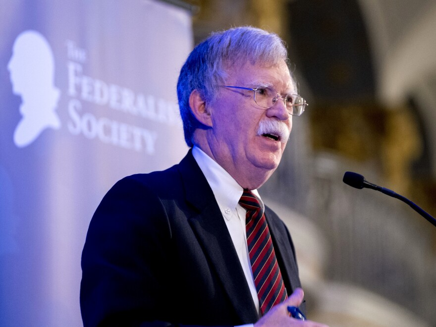 National Security Adviser John Bolton told the Federalist Society on Monday that the International Criminal Court is a threat to American sovereignty and national security.