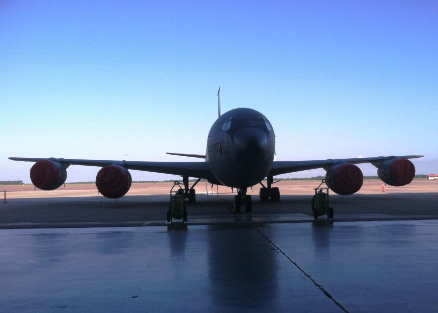 A KC-135 tanker at MacDill AFB in Tampa.