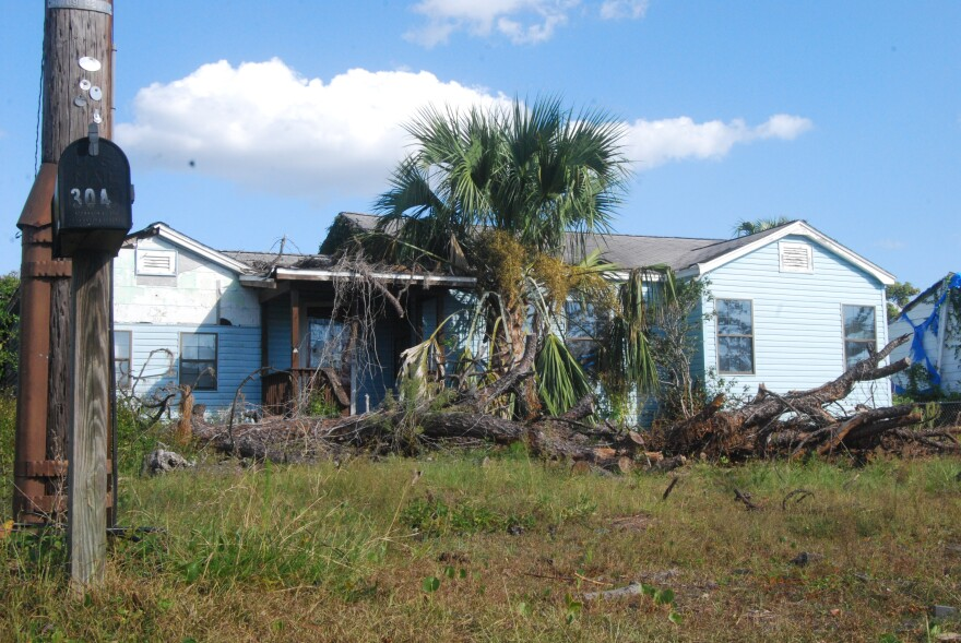 Panama City's the Cove neighborhood has several properties, including this one at 304 N. Palo Alto Avenue, that have remained untouched one year after Hurricane Michael.