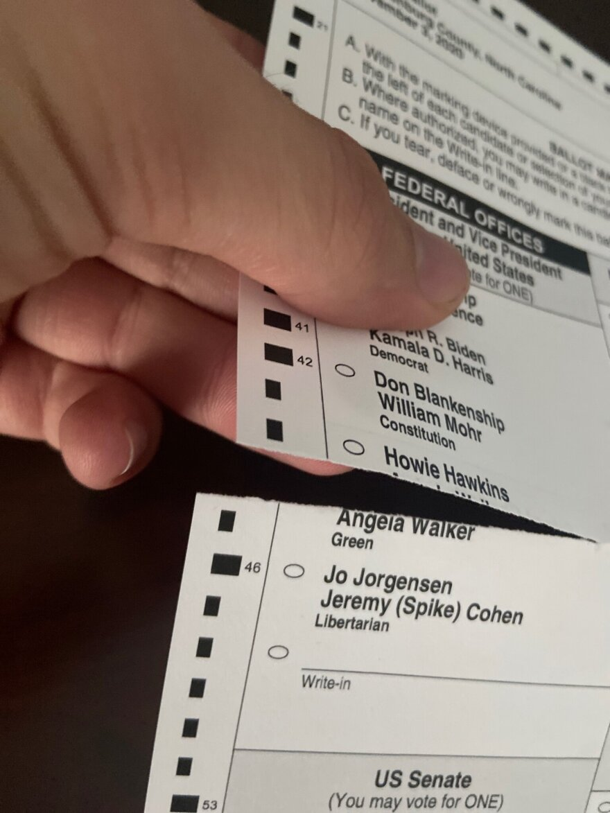 Voter Ben Copeland found a tear in his ballot when he received it.