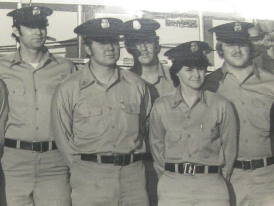 Judy Brewer became the nation's first career full-time female firefighter in Arlington County, Va., in 1974.
