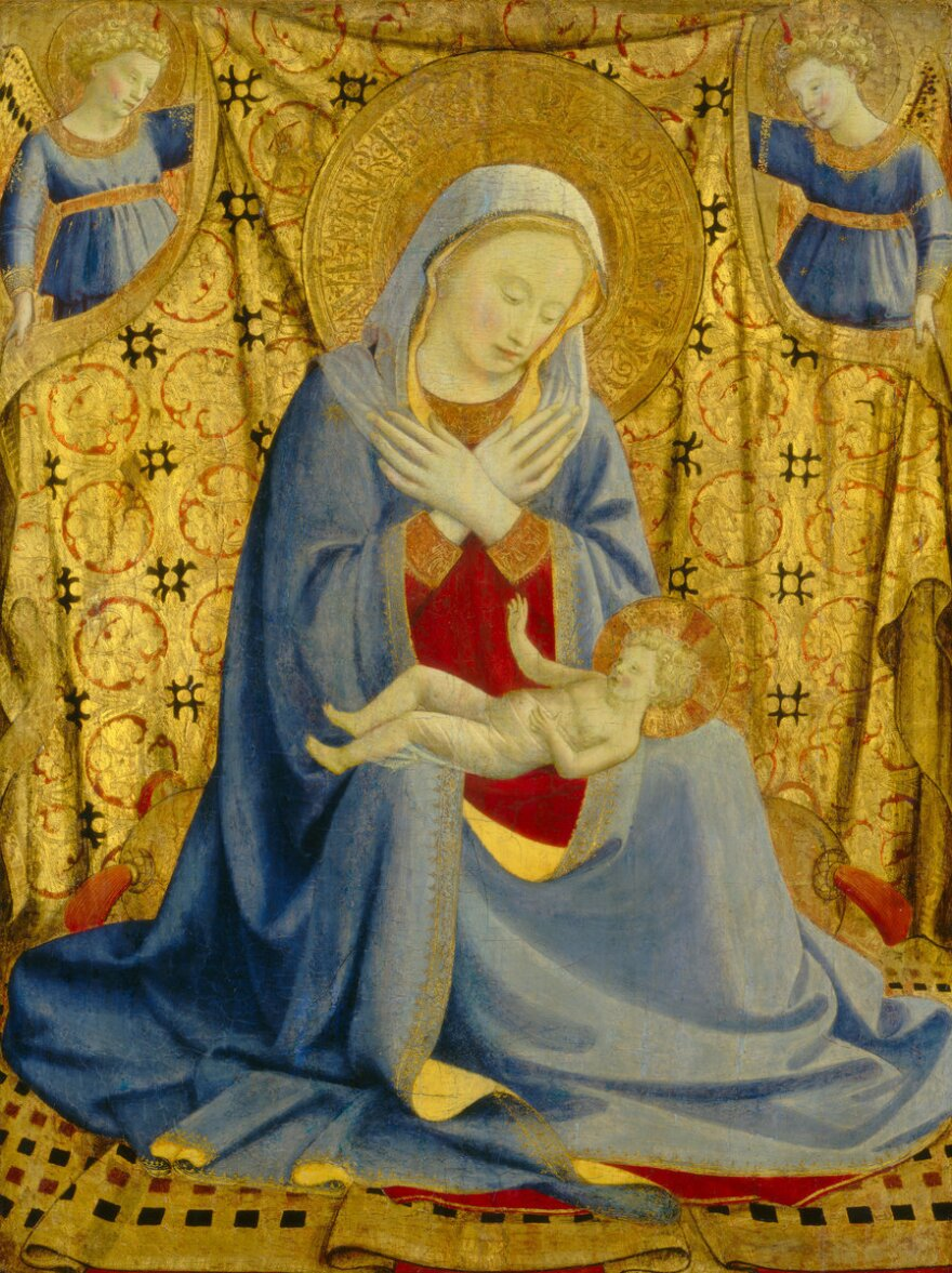 In medieval art the Virgin Mary is often cloaked in blue. Above, Fra Angelico's<em> Madonna of Humility, </em>circa 1430.