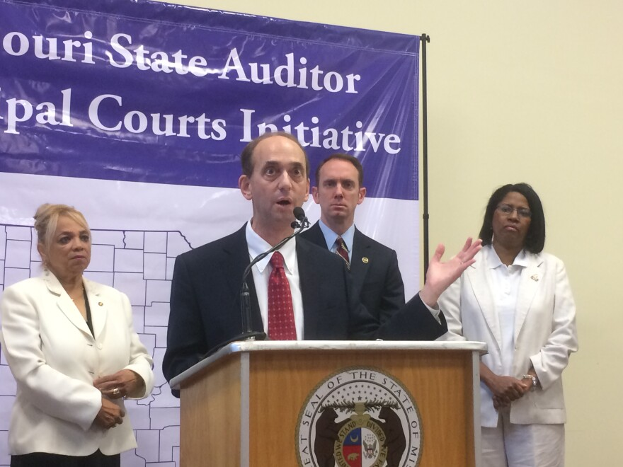 Tom Schweich speaks a press conference from last week announces audits of 10 municipal courts.
