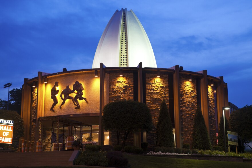 """Canton, Ohio, USA - July 18, 2011: Pro Football Hall of Fame in Canton, Ohio. Built in 1963."""