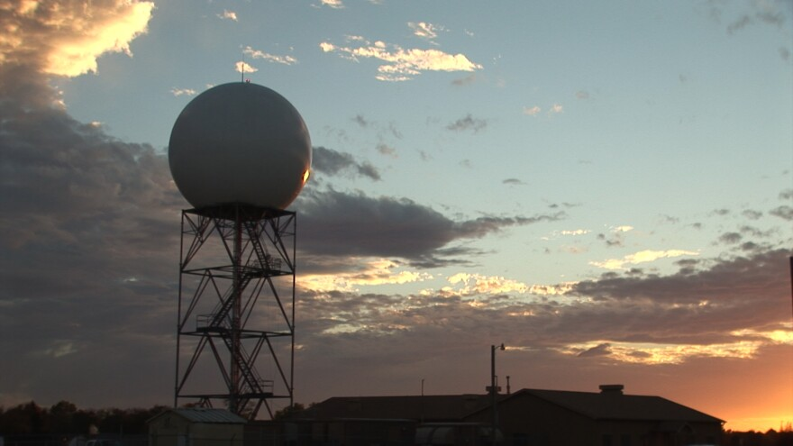 A National Weather Service NEXRAD Doppler radar site.