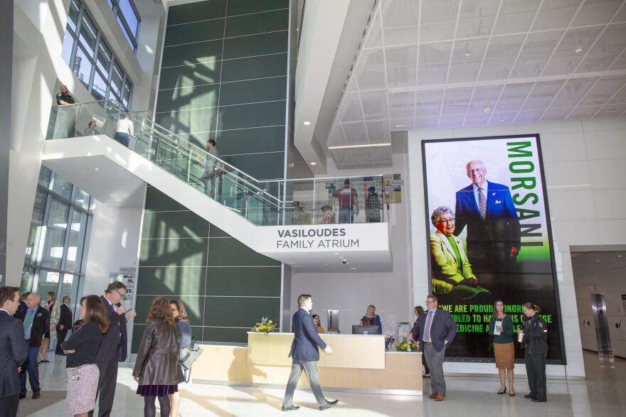 lobby of building