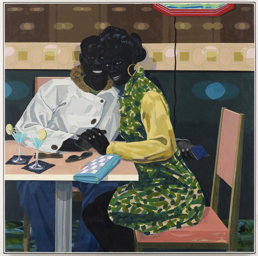 """Kerry James Marshall has spent his career depicting black lives on canvas. He says inclusion in the art world shouldn't be contingent on """"whether somebody likes you ... or somebody's being generous to you."""" Above, his 2014 work,<em> Untitled (Club Couple).</em>"""