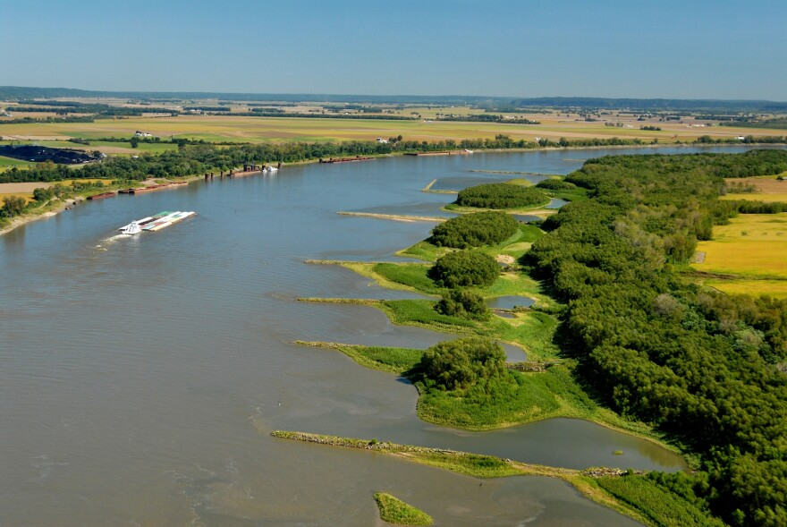 Dikes on the Mississippi River