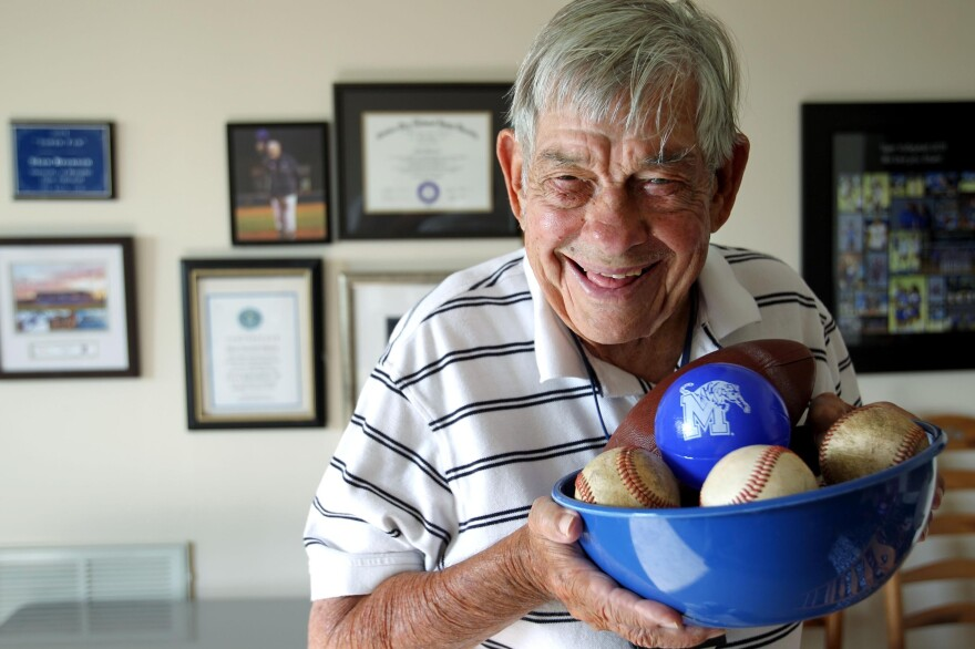 Stan Bronson, 84, has been an honorary batboy for the University of Memphis Tigers since 1958. The university provides his food and medical care.